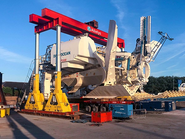Industrial plant services - moving large pieces of equipment