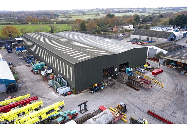 Secure, monitored large scale storage warehousing