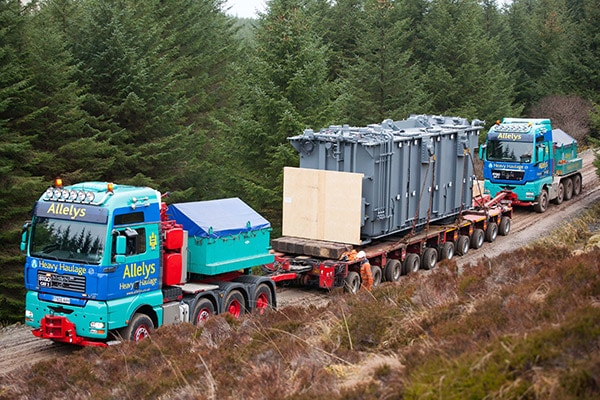 Girder frames used to transport transformers, generators and turbines