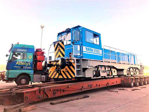 Warehousing facilities for rolling stock components such as bogies and engines