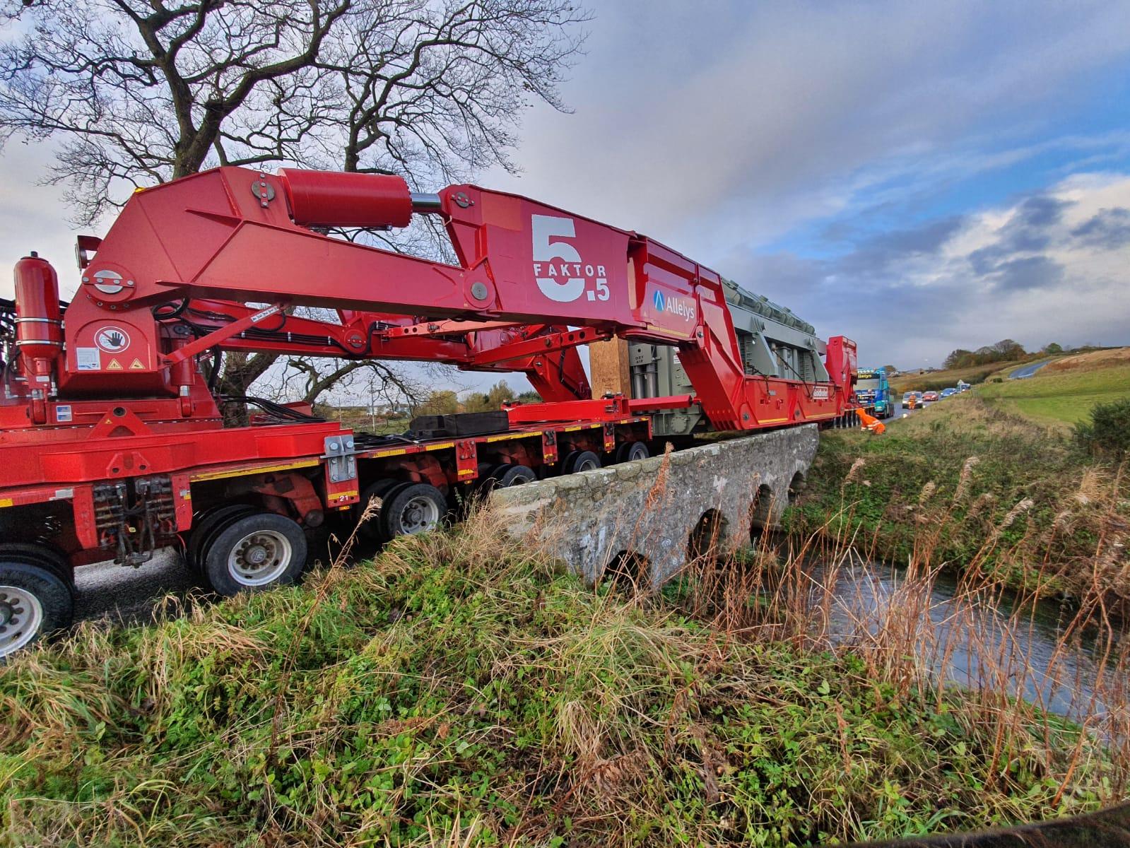 Girder frame trailer used for transformer transport