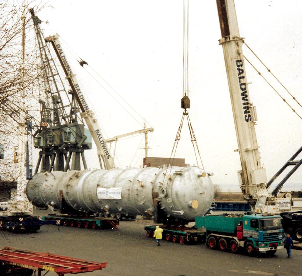 Allelys Heavy Haulage - Baldwins crane