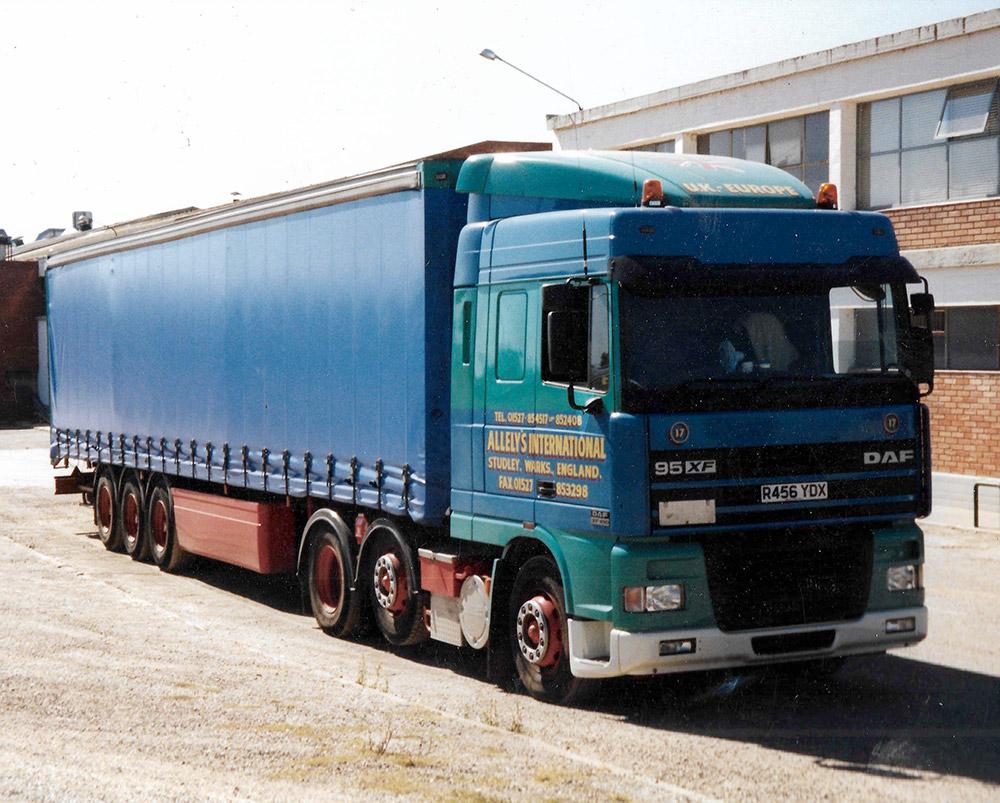 Allelys transport lorry